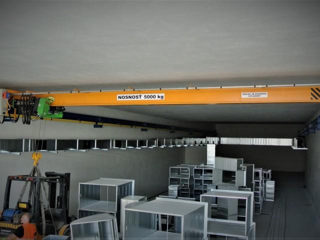 Mostový žeriav, 5t, záťažová skúška