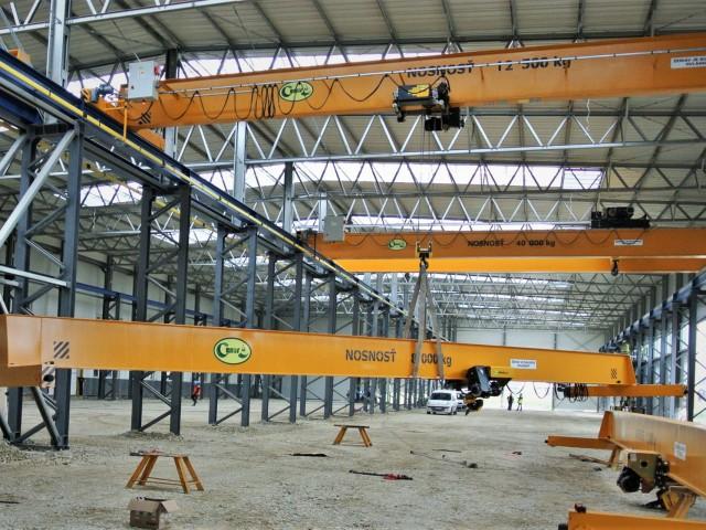 Single-Girder Overhead Cranes, 8t and 12,5t