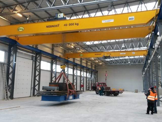 Overhead Cranes, 40t and 12,5t, Load Test