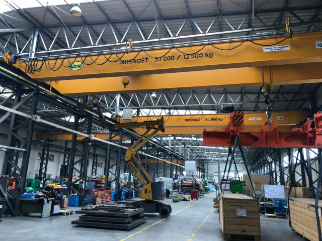 Overhead Cranes 32/12,5t and 40t
