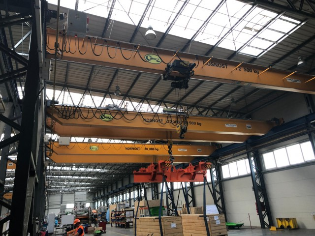 Loaded Overhead Cranes