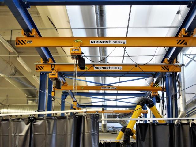 Underslung Bridge Cranes, 500kg