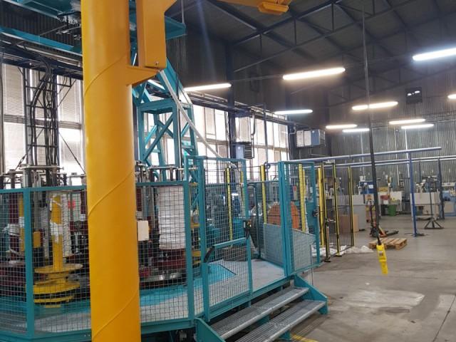 Slewing Jib Pillar Crane with Folding Arm