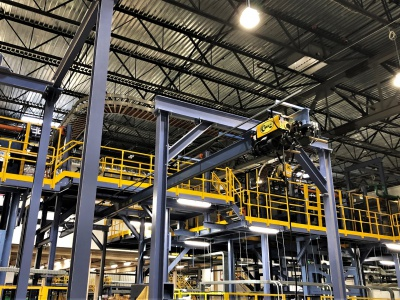 Monorail Cranes with Standard Hoists