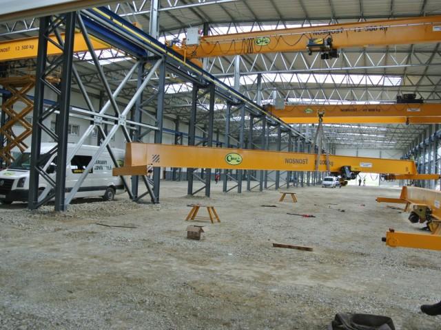 Instalace mostových jeřábů