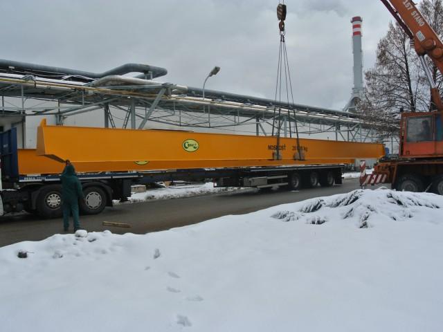 Převoz mostového jeřábu 20t