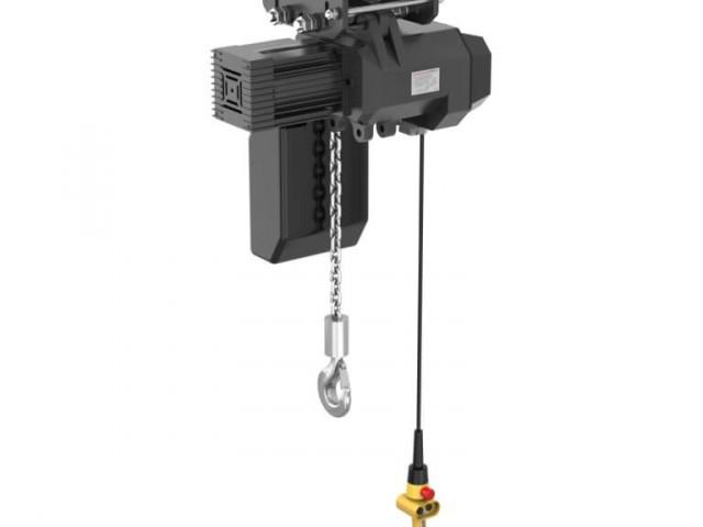 Řetězový podvěsný kladkostroj 4LX, postrkový pojezd