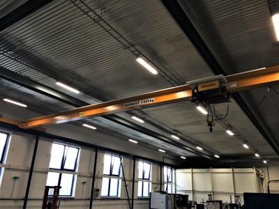 Mostový jeřáb jednonosníkový 1,6T + dráha
